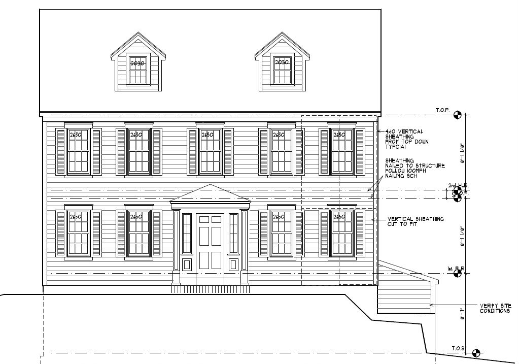 Colonial Style Home Liberty St Godwin Construction